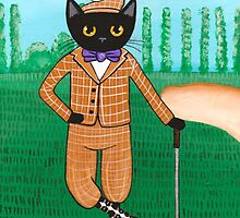 Cat on a Golf Outing by Ryan Conners