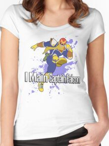 I Main Captain Falcon - Super Smash Bros. Women's Fitted Scoop T-Shirt