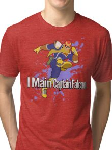 I Main Captain Falcon - Super Smash Bros. Tri-blend T-Shirt