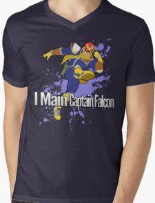 I Main Captain Falcon - Super Smash Bros. Mens V-Neck T-Shirt