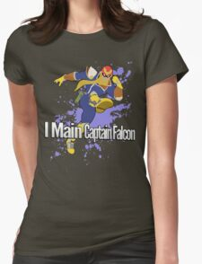 I Main Captain Falcon - Super Smash Bros. Womens Fitted T-Shirt