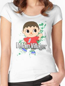 I Main Villager - Super Smash Bros. Women's Fitted Scoop T-Shirt
