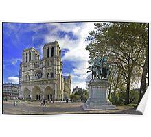 Cathédrale Notre-Dame et Charlemagne Poster