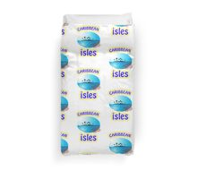 Caribbean Vacation Tee-Shirts and Stickers Duvet Cover
