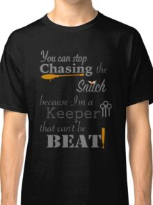 Quidditch Word Play- black background option Classic T-Shirt