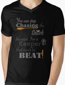 Quidditch Word Play- black background option Mens V-Neck T-Shirt