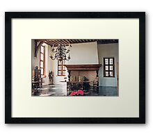 A Dining Hall - Laarne Castle - Belgium  Framed Print