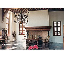 A Dining Hall - Laarne Castle - Belgium  Photographic Print