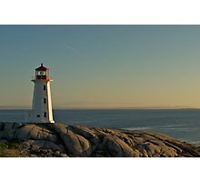 Peggy's Cove lighthouse on a Sunday afternoon Photographic Print