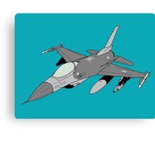 """F-16 """"Fighting Falcon"""" Viper Canvas Print"""