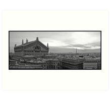 l'Opéra Garnier et Eiffel Art Print