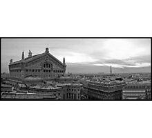 l'Opéra Garnier et Eiffel Photographic Print