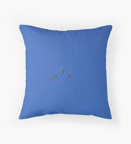 Four F16 Throw Pillow