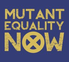 X-Men Mutant Equality NOW T-shirt by chadkins