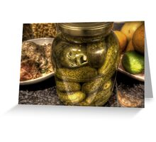 In a pickle Greeting Card