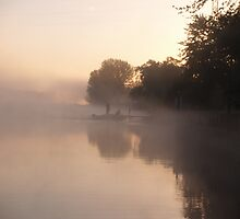 fishing in the fog by Rebecca Skeels