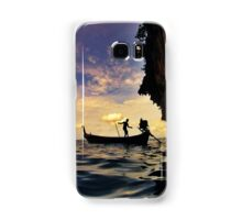 Longtail boat under the cliffs of Phi Phi Ley Samsung Galaxy Case/Skin