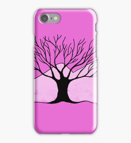 Tree and Mountain - Simple but unique drawing iPhone Case/Skin