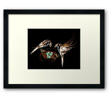 Soon to be parents... Framed Print