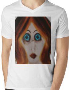 surprised Mens V-Neck T-Shirt