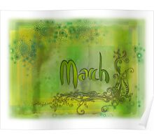 March (from a year full of color) Poster