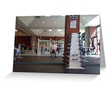 Self Portrait - at the Gym Greeting Card