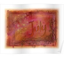 July (from a year full of color) Poster