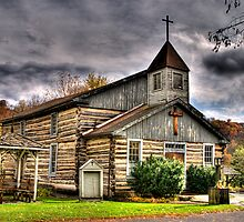 CHURCH IN OLD BEDFORD VILLAGE by Diane Peresie