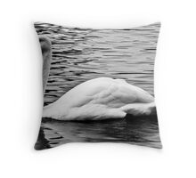 The Lonely Swan Throw Pillow