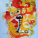 unititled 2 yellow and red series by gurgie