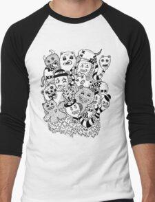 Abstract Monsters Men's Baseball ¾ T-Shirt