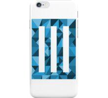 Dark Blue Geometric Paramore Bars iPhone Case/Skin