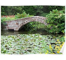 Bridge over pond Poster
