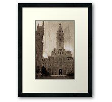 Vintage Philly Framed Print