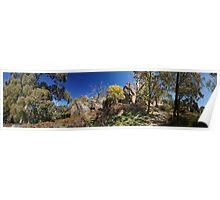Panorama at Hanging Rock Poster