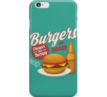 Burgers and Booze iPhone Case/Skin