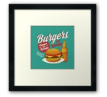 Burgers and Booze Framed Print
