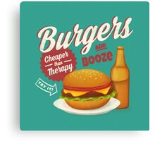 Burgers and Booze Canvas Print