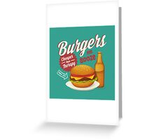 Burgers and Booze Greeting Card
