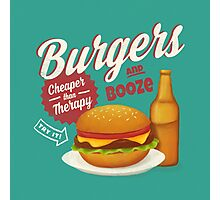 Burgers and Booze Photographic Print