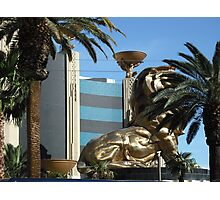 MGM Lion In Las Vegas Photographic Print