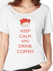 Keep Calm And Drink Coffeh! Women's Relaxed Fit T-Shirt