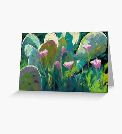 Cactus and California Poppies Greeting Card