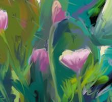 Cactus and California Poppies Sticker