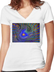 Land Of Rivers And Light Women's Fitted V-Neck T-Shirt