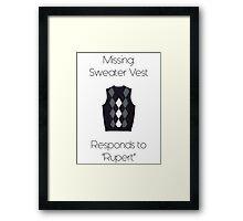 Sweater Vest Framed Print