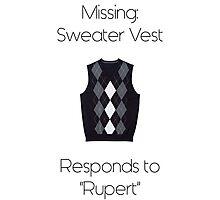 Sweater Vest Photographic Print
