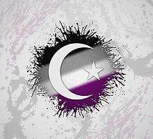 Muslim Star and Crescent Asexual by LiveLoudGraphic