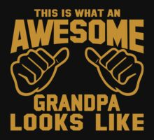 This is What an AWESOME GRANDPA Looks Like Kids Clothes