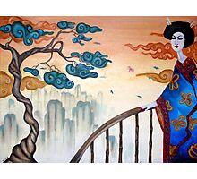 Geisha and the Mountains Photographic Print